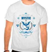 Camiseta Branca Pokemon Go Team Mystic Articuno Time Azul - Eanime