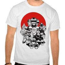 Camiseta Branca Tokusatsu Jaspion Jiban Changeman - Eanime