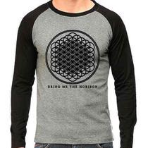 Camiseta Bring Me The Horizon Bmth Rock Raglan Mescla - Eanime
