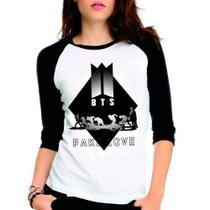 Camiseta Bts Bangtan Boys Fake Love Raglan Babylook 3/4 - Eanime