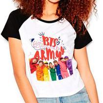 Camiseta Bts Bangtan Boys Oficial Fã Clube Babylook Feminina - EANIME