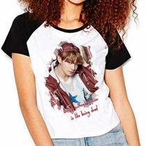 Camiseta Bts Jeon Jungkook Bangtan Boys Raglan Babylook - Eanime