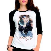 Camiseta Bts Kim Taehyung Bangtan Boys V Raglan Babylook 3/4 - Eanime