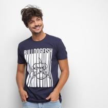 Camiseta Bulldog Fish Barcode Masculina -