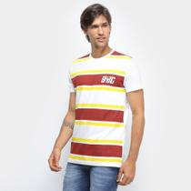 Camiseta Bulldog Fish Logo Stripes Masculina -