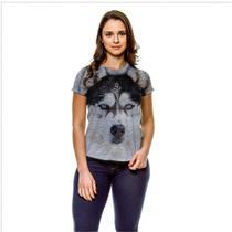Camiseta Cachorro Husky Siberiano Snow Baby Look GY - 429K