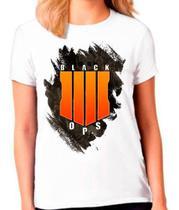 Camiseta Call Of Duty Black Ops 4 Camisa Feminina - Vetor camisaria