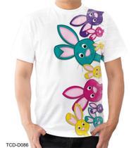 Camiseta Camisa Coelhinho Coelho Fofo Bichinhos Pascoa - Dias no Estilo