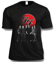 Camiseta Camisa Foo Fighters Rock Masculina Preta - Monkeystl