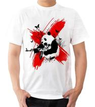 Camiseta Camisa Panda Fuzil Urso Asiático Fofo Guerreiro - Dias no Estilo