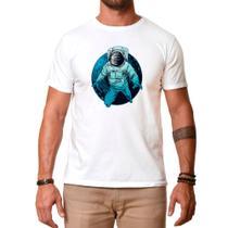 Camiseta Camisa Tshirt Estampada Branca Astronauta - Use thuco