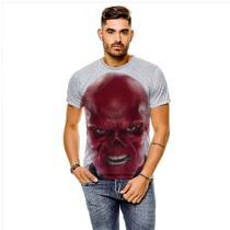Camiseta Capitão América Caveira Vermelha Face Masculina GY - 429K