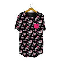 Camiseta Caveira Full Print Preta - Use Bora