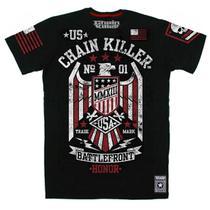 Camiseta CHAIN KILLER Battlefront - MMA Rock Militar Academia Muay Thai Jiu Jitsu Moto Retro Musculação Lutas Boxe Treino ORIGINAL -