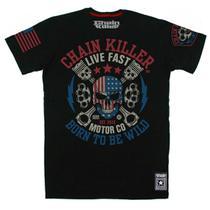 Camiseta CHAIN KILLER Born to be Wild - MMA Rock Academia Muay Thai Jiu Jitsu Moto Retro Musculação Lutas Boxe Treino ORIGINAL -