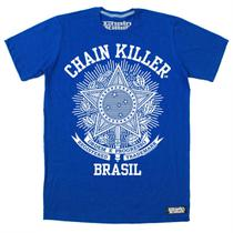 Camiseta CHAIN KILLER Brasil - MMA Rock Academia Muay Thai Jiu Jitsu Moto Retro Musculação Lutas Boxe Treino ORIGINAL -