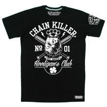Camiseta CHAIN KILLER Hooligan - MMA Rock Academia Muay Thai Jiu Jitsu Moto Retro Musculação Lutas Boxe Treino ORIGINAL -