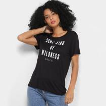 Camiseta Colcci Estampada Manga Curta Feminina -