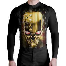 Camiseta Competidor Skull USA Atlética Esportes -