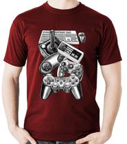 Camiseta Controles Video Game Gamer controle Camisa Blusa - Dragon Store