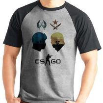 Camiseta Counter Strike Cs Go Raglan Mescla Curta - Eanime