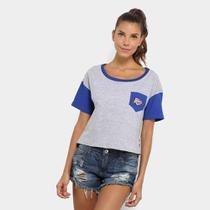 Camiseta Cropped NBA Logo Oklahoma Feminina - Mitchell  ness