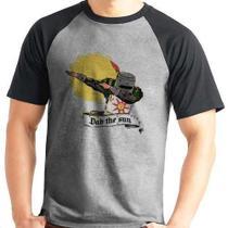 Camiseta Dark Souls Dab The Sun Raglan Mescla Curta - Eanime