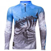 Camiseta De Pesca King Proteção Solar Uv Viking 06 - Tucunaré - King brasil