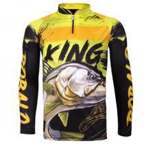Camiseta De Pesca King Proteção Solar Uv Viking 13 - Robalo - King brasil