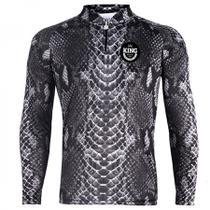 Camiseta De Pesca King Proteção Solar Uv Viking 17 - Pele Cobra - King Brasil