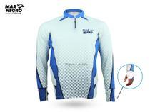 Camiseta de Pesca Proteção Solar 50+ UV Mar Negro - Clean 2 -