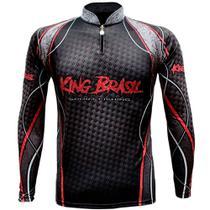 Camiseta de pesca sublimada king brasil manga longa - kff636 -