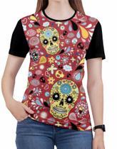 Camiseta de Rock n roll Caveira moto Feminina Roupas blusa 5 - Alemark