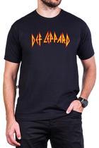 Camiseta Def Leppard Escrita Masculina - Bandalheira