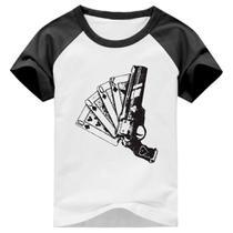 Camiseta Destiny Cayde 6 Ace / Ás de Espadas Arma Raglan Manga Curta - Eanime