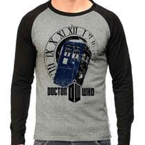 Camiseta Doctor Who Police Box Série Raglan Mescla - Eanime