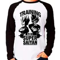 Camiseta Dragon Ball Z Training To Go Super Saiyan Raglan - Eanime
