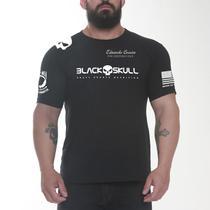 Camiseta dry fit black skull - CAVEIRA PRETA