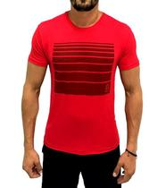 Camiseta Dry Fit Listra Vermelha - Use bora