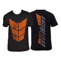 Camiseta dry fit - new millen (escudo frente - preto g) -