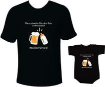 Camiseta e body Tal pai tal filho Primeiro dia dos pais boracomemorar - Moricato
