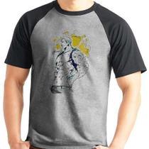 Camiseta Escanor Orgulho Nanatsu No Taizai Raglan Mescla - Eanime
