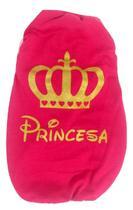 Camiseta Estampa Das Princesas Cor Rosa Tamanho M - Nica Pet