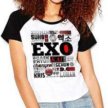 Camiseta Exo Integrantes Kpop Exo-l Raglan Babylook - Eanime