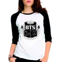 Camiseta Feminina Bangtan Boys Bts Kpop Raglan Babylook 3/4 - Eanime