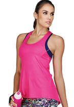 Camiseta Fitness Nadador Hipslip DeMillus 93092 Rosa Chiclete -
