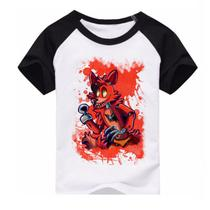 Camiseta Five Nights at Freddy's Fnaf Foxy Raglan Infantil - EANIME