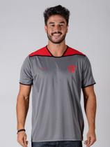 Camiseta Flamengo Braziline Up Adulto - Cinza