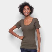Camiseta Forum Canelada Gola U Feminina -