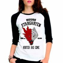 Camiseta Game Of Thrones Got Stargaryen Raglan Babylook 3/4 - Eanime